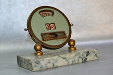 French Circular Desk calendar Date Marble base 40-90 Year Old technology Art