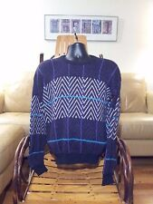 VNTG 1980s Sweater Lot LaVane New York Mens XL Small Made in USA 2 Sweaters