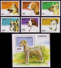 Mint Never Hinged/MNH Dogs Beninese Stamps