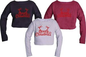 MARRY CHRISTMAS CROP TOP HIPSTER FASHION TOP QUALITY CHRISTMAS CROP TOP GIFT