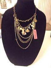 Betsey Johnson Dream Closet Pink Bear Dress Necklace NWT rare vintage collectibl