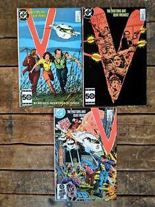 V #3-4,8 **THREE ISSUE LOT** (DC 1985) Copper Age Sci-fi TV Comic Adaptation