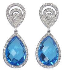 Cabochon Fine Diamond Earrings