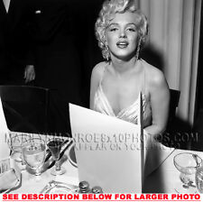 MARILYN MONROE DINNER IN A RESTAURANT 1 RARE 8x10 PHOTO