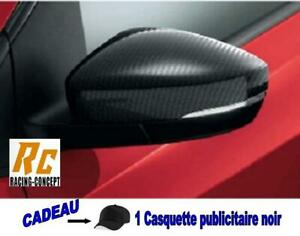 JEU 2 COQUES RETROVISEURS LOOK CARBONE coque retro carbon VW POLO 6R