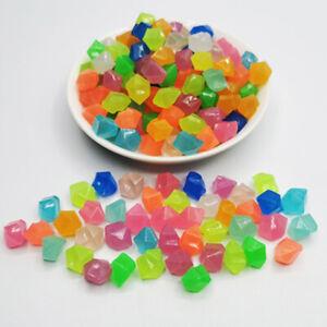 300pcs Glow Pebbles Glow in the Dark Garden Pebbles Glowing Stones for Walkw S/