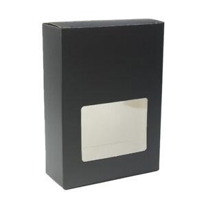 QQ Studio 10 Black Kraft Personal Hardware Storage Boxes for Bolts Screws