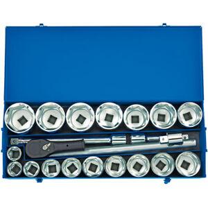 Draper MC22M/B 1in Sq Dr Metric Socket Set in Metal Case 22 Piece 36-80mm