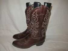 Mens Justin Western Cowboy riding Boots Size 10.5 D Style J1487 Leather USA