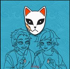 Demon Slayer Tomioka Giyuu Kira self made Brooch mask pin