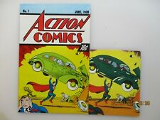 ACTION COMICS # 1 FIRST SUPERMAN VF/NM PLUS CARD 10 CENT ISSUE