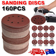 125mm 5 80PCS Sanding Discs 40-400 Grit Orbital Sander Sandpaper 8 Hole Pads