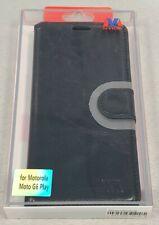 Motorola Moto G6 Play Designer Wallet Protective Case - Black - #6E