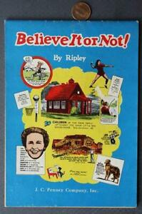 1960s J.C. Penney Department Stores Ripley's Believe It Or Not cartoon booklet!