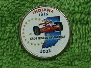 UNITED  STATES   25 Cents   2002  P   COLORIZED   INDIANA    .