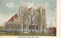 Beloit Wisconsin~Presbyterian Church~House Next Door~1910 Postcard