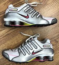 NIKE SHOX 366571-161 Running Shoes White Silver Pink Womens 7