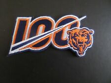Chicago Bears-100 Years Orange & Blue Embroidered Iron On Patches 2 X 4