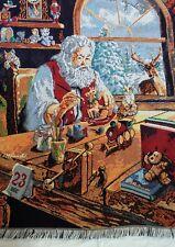 Vintage Christmas Blanket Throw Santa Toys Dec 23 Woven The Northwest Company