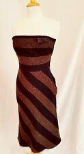 Womens Vintage PRADA  br/blk wool tweed dress  Fall 2000 Collection  40/M