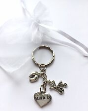 Mum to be - Keyring Jewellery charm - Baby Shower  Pregnancy Gift Boy Girl