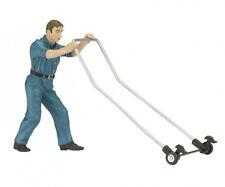 Schuco pit crew mécanicien avec jack - 1/18 scale die-cast figurine