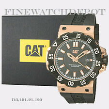 Authentic Caterpillar Men's Black & Rose Dial Analog Quartz Watch D3.191.21.129