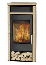 Kaminofen Fireplace Santiago schwarz Sandstein 6kW