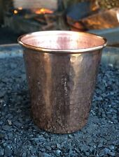 1 Pure Copper 10 oz Hammered Drinking Cup & 100 Moringa Oleifera Seeds Ayurveda