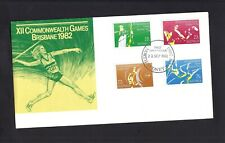 Australia First Day Cover 1982 XII Commonwealth Games Brisbane with 4 stamps