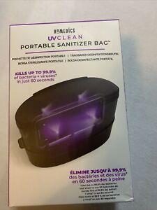 Homedics UV Clean Portable Sanitizer Bag - BLACK Open Box