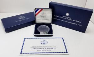 2001 P American Buffalo Single Coin Proof Silver Dollar OGP Box w/ COA (NO COIN)