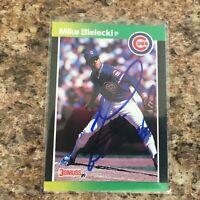 Mike Bielecki Signed 1989 Donruss Auto Chicago Cubs