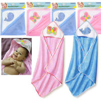 4 X Baby Hooded Towel Bath Blanket Infant Swaddle Wrap Bathrobe Butterfly Whale