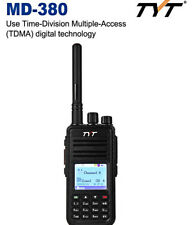 TYT MD-380 DMR Portable Walkie Talkie Digital Radio LCD UHF for Mototrbo US PLUG