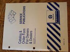 Ford New Holland Catalog & Order Form for Dealers 1996