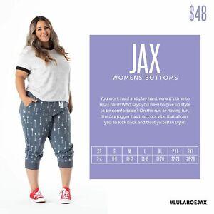 New 2020 LuLaRoe Jax Jogger Pants Size Medium Sunflowers, Animal Print, Solid