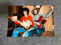 Ronnie Wood The Rolling Stones Eric Clapton signed photo 6x8 with coa