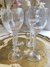"Royal Doulton Crystal Boxed Set White Wine Glasses BNIB ""Dawn"" made In Austria"