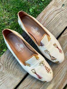 Stubbs & Wootton Palm Beach Women Loafer Flats Slippers Ballet Moccasin 8.5 38.5