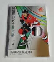 R43,300 - RUDOLFS BALCERS - 2019/20 SP GAME USED - ROOKIE PATCH - #34/65 -