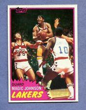 MAGIC JOHNSON BASKETBALL CARD 2nd YEAR 1981-1982 TOPPS #21 NEAR MINT
