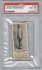 1925 Dominion Choc. Sports Card #105 Laurie Armstrong (Sprinting) Graded PSA 8
