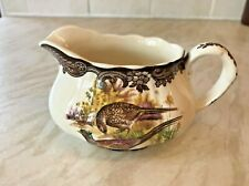 Vintage Royal Worcester Palissy Games Series Jug Pheasant & Woodcock small chip