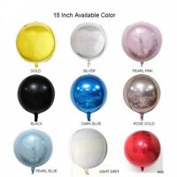"""Brand New 18"""" Sphere Orbz Orb Round Balloons Gold, Pink, Silver, Blue, Rose Gold"""