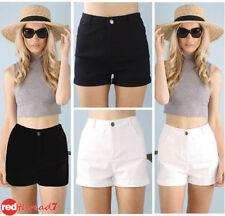High Waist Cotton Regular Machine Washable Shorts for Women