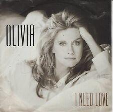 "Olivia Newton John 7"" vinyl single I Need Love 1992"