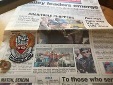 Harley Davidson Glendale California 2002 19th Love Ride Pin & Patch & News Story