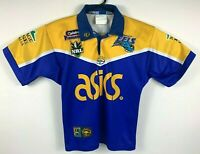 Classic NRL Vintage Parramatta Eels Jersey Youth Size Signed On Field NRL *RARE*