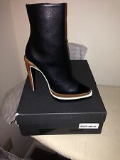 Proenza Schouler midcalf black leather Boots size 40 new in box retail  $1200